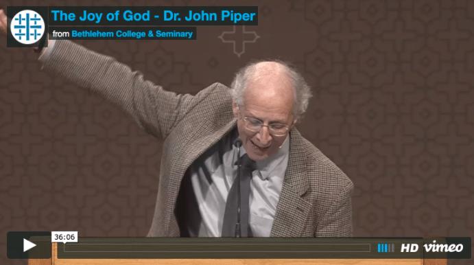 Piper ~ The Joy of God